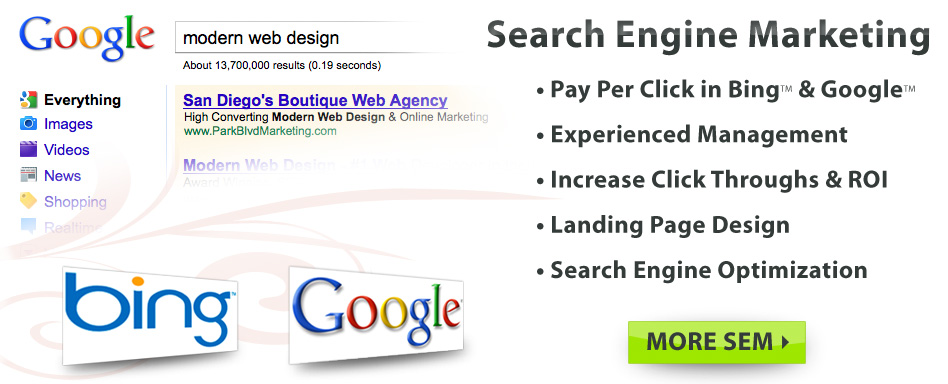 Search Engine Marketing: PPC, SEO, Landing Page and Mini-Site design | San Diego & The World!
