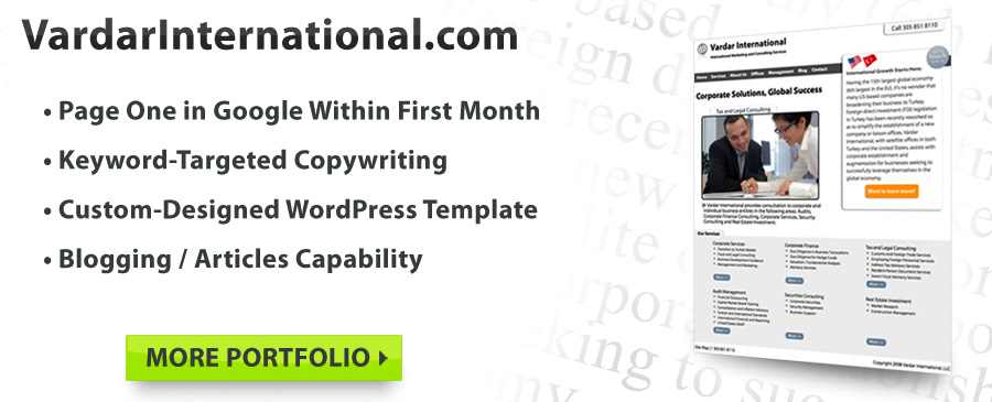 Search Enging Optimized Copywriting, Custom WordPress Web Design & Blogs!